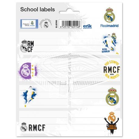 Etiqueta Escolar Grande Real Madrid