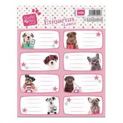 Etiqueta Escolar Grande Studio Pets Perros