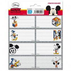 Etiqueta Escolar Grande Disney Mickey Mouse