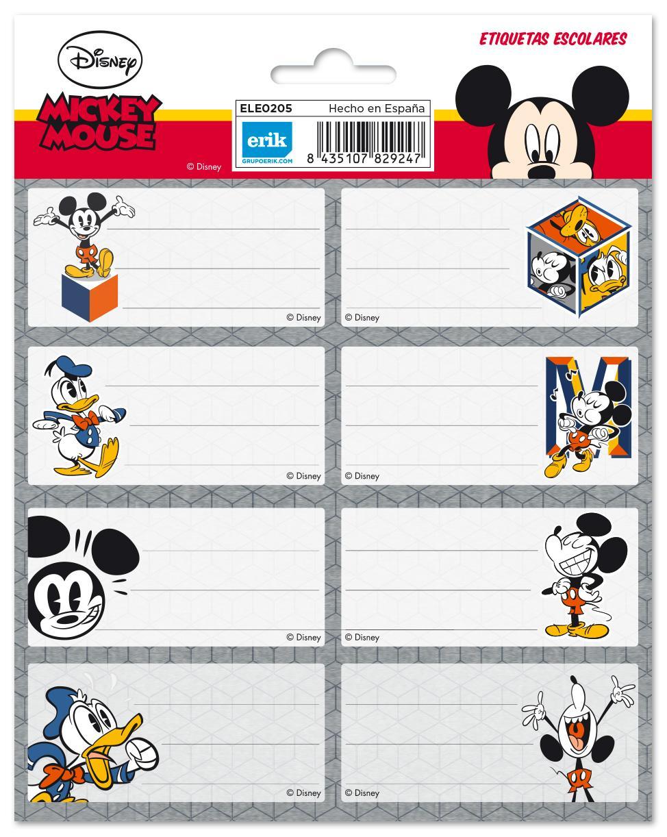 Etiqueta Escolar Grande Disney Mickey Mouse - Nosoloposters.com