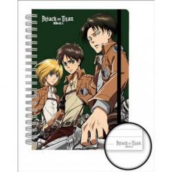Cuaderno A5 Premium Attack On Titan