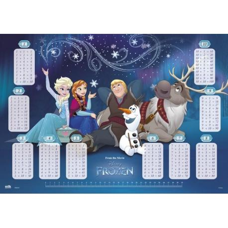 Vade Escolar Frozen Tabla De Multiplicar