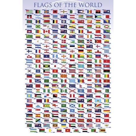 Poster Banderas del Mundo