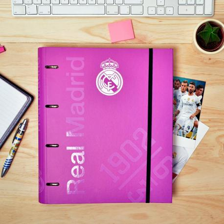 Carpeblock 4 Anillas Premium Real Madrid Rosa