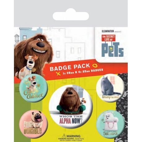 Pack de Chapas La Vida Secreta de las Mascotas Alfa