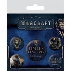 Pack de Chapas Warcraft La Alianza