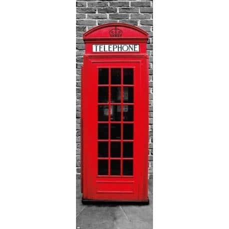 Poster Puerta Londres Cabina Teléfono