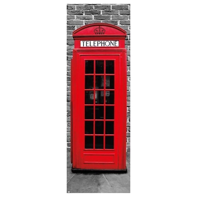 Poster puerta londres cabina tel fono for Puertas kiuso telefono