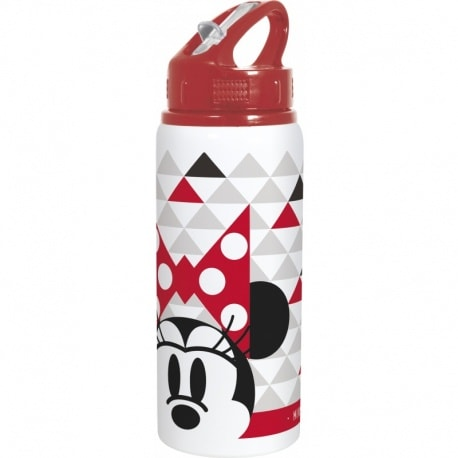 Botella Deportiva de Aluminio Minnie