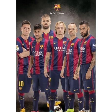Postal A4 FC Barcelona Varios Jugadores