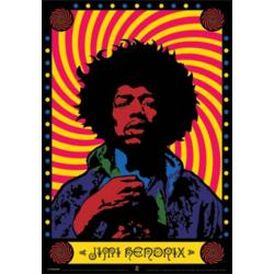 Poster 3D Jimi Hendrix Psychedelic
