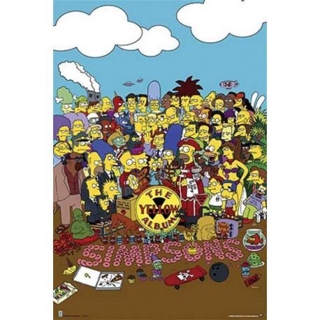 Poster Los Simpsons El Album Amarillo
