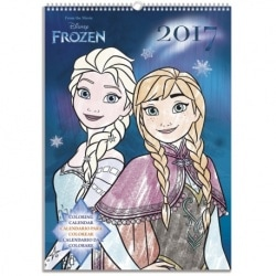 Calendario Pared A3 2017 Frozen