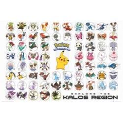Poster Pokemon Región de Kalos