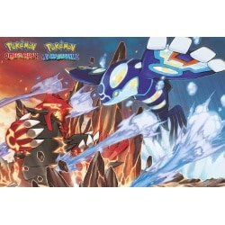 Poster Pokemon Groudon y Kyogre