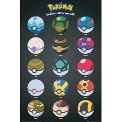 Poster Pokemon Pokebolas