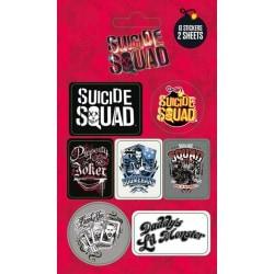 Pack de Pegatinas Escuadrón Suicida Mix