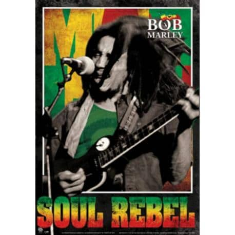 Poster 3D Bob Marley Soul Rebel