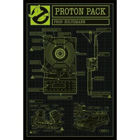 Posters Cazafantasmas 3 Proton Pack