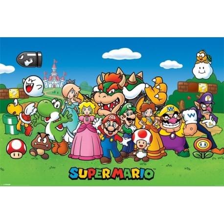Poster Super Mario Personajes