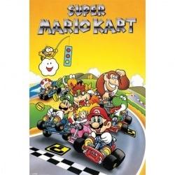 Poster Super Mario Kart Retro