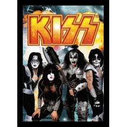 Poster 3D Enmarcado Kiss