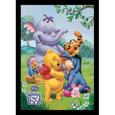 Poster 3D Enmarcado Winnie The Pooh