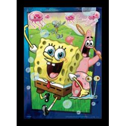 Poster 3D Enmarcado Spongebob Squarepants