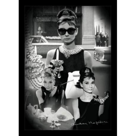 Poster 3D Enmarcado Audrey Hepburn